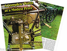 Old CALTHORPE (UK) MOTORCYCLE Article / Photos / Pictures