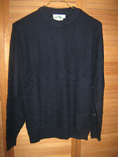MEN'S WOOLRICH SWEATER  -CREWNECK-LONGSLEEVE-NAVY BLUE-WOOL BLEND-- SIZE L
