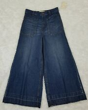 We The Free Womens Lotus Blue Flare Denim Jeans Pants. Size 25