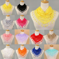1PC Fashion Women Lace Tassel Rose Floral Hollow Scarf Shawl Lady Wraps Scarves