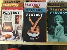 Playboy Magazine Full Year Set 1964 All 12 Issues. Complete Collection. Nude Lot