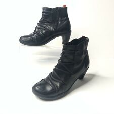 Camper Suri Nara Boots Size 39 Black Leather Lace Up Low Heel Comfort