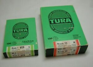 Tura Photo Paper BN 111 and BS1 made in Germany Lot of 2