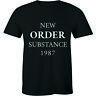 New Order Substance 1987 Alternative New Wave Joy Division Retro Tee Men T-shirt