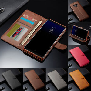 For Samsung Note 10 9 S21 Ultra S10 S9 Plus Leather Flip Case Cover Card Wallet