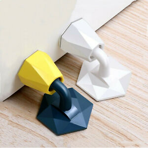 2Pcs Self Adhesive Door Stop Stopper Holder Rubber Wall Protector Bumper Guard