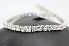 Special Offer 5ct  round diamond ClawSet Round Diamond Tennis Bracelet in18k W.G