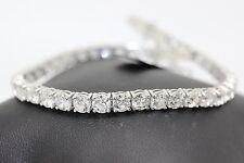 Special offer! 4ct  Claw Set Round Diamond Tennis Bracelet Made in 18k W.G