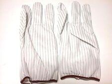 New - 5 Pair ESD Hot - Anti Static Men's Gloves - Elastic Cuff - Elastic - Large
