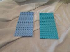 Lego lot 2 light blue turquoise LEGO BASEPLATE 8x16 dot base board plate friends