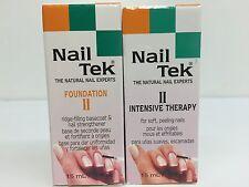 Nail Tek Intensitive Therapy II (2) & Nailtek Foundation  II 0.5 oz/ 15 ml.