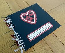 Día de San Valentín Amor Corazones álbum de recortes, foto álbum de memoria regalos, personalizable
