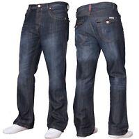 New Mens APT A31 Designer Boot Leg Dark Wash Jeans Big Sizes 28 to 48