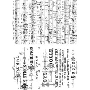 """""""Music & Advert"""" Stampers Anonymous by Tim Holtz"""" 8.5""""X7"""""""