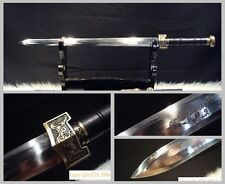 "Hand Forge Chinese Longquan Sword ""Han Jian"" High Manganese Steel Sharp Blade"