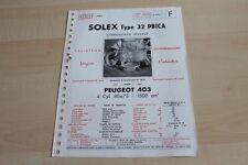 139290) Solex Type 32 PBICA - Peugeot 403 Prospekt 02/1963