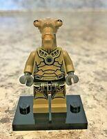 Genuine LEGO STAR WARS Minifigure - Geonosian - Dark Tan - Complete - sw0320