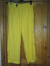 CANARY YELLOW LINEN PANTS.SIZE 10.BNWT