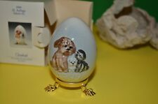 1999 Goebel Hummel 22nd Annual Egg Dog Puppies New in Box