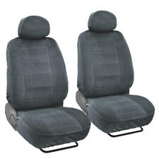 Soft and Thick Velour Front Car Seat Covers for Bucket Seats w/ Headrests - 4pc