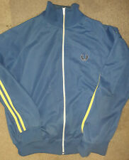 Fred Perry Blue Track Jacket Skinhead Mod Size Large