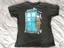 Dr. Who T Shirt XII Police Box Public Call Large BBC Black Short Sleeve Doctor L