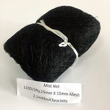 2.1x9m 110D/2Ply 3 Pockets 15*15mm Bird Mist Capture Catching Netting