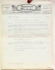 1925 ITINERAIRE MICHELIN ROCROI  VERVINS CARTE BIBENDUM