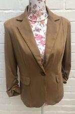 Evie Blazer Size 12 Camel Brown Soft Lightweight Casual Jacket