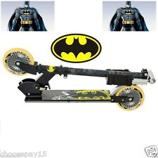 NEW BATMAN Kids Children Folding Inline Scooter Adjustable Handle  PERFECT GIFT