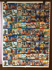 """BIBLE STORY CARDS SERIES 2 wph (1995) UNCUT SHEET of Trading Cards 28""""X38"""""""