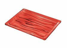 Guzzini Aqua Wavy Tray, 12-1/2 by 9-Inches, Transparent Red New In Box