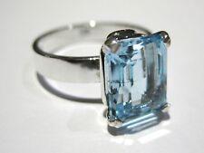 Topaz Ring silver 925% anello topazio azzurro