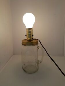 Mason Canning Jar VTG Lamp - Farmhouse Decor - No Bulb or Shade