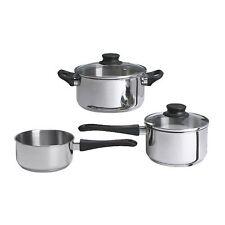 Annons 5 pièces cookware set, verre & acier inoxydable, cuisine/soupe pot, sauce...