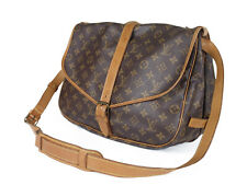 LOUIS VUITTON Saumur 35 Monogram Canvas Leather Crossbody Shoulder Bag LS2846