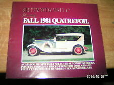 Automobile Quarterly's Quatrefoil Fall 1981