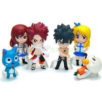 Fairy Tail Salamander Lucy Natsu Erza Gray Happy 6 PCS Action Figure Gift Toys