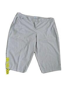 Izod Golf Womens Beige Tan Cropped Capri Pants Size 18