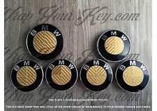 FULL GOLD CARBON FIBER BMW ALL Badge Emblem Overlay TRUNK RIMS @!FITS ALL BMW!@
