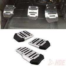 Manual Auto Car Pedal Treadle NoSlip Aluminum Cover Pad Set for Brake Clutch Gas