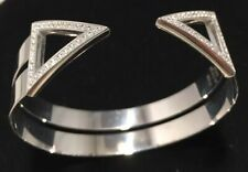 Signed Italian cuff bangle designer sterling silver Henry Daniel