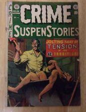 CRIME SUSPENSTORIES #24 SOLID VG MINUS 1954 INSANE DISMEMBERMENT COVER,VIOLENT