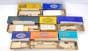 8 Ambroid HO Wood Model Kits Freight Cars Unassembled
