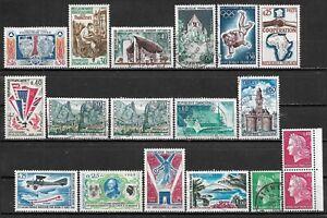 1964-1969 FRANCE LOT OF 18 USED/UNUSED STAMPS Scott CV $5.35