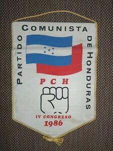 1986 HONDURAS Communist party Congress participant Pennant Streamer Flag GERMANY