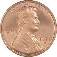 1971 S 1c Lincoln Memorial Cent Penny US Coin Choice Proof