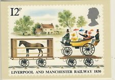 C 053 BRITISH PHQ POSTCARD LIVERPOOL AND MANCHESTER RAILWAY