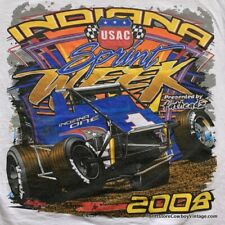 INDIANA SPRINT CAR RACE T SHIRT 2008 Racing USAC MEDIUM