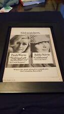 Paula Wayne/Bobbe Norris Rare Original Columbia Records Promo Poster Ad Framed!